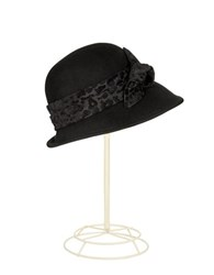 Scala Fedora With Burnout Ribbon Black