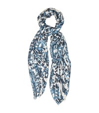 Reiss Nico Abstract Animal Print Scarf In Blue