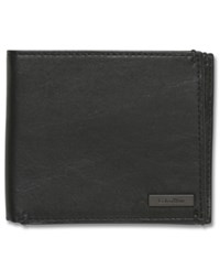 Calvin Klein Wallet Leather Coin Pocket Passcase Black