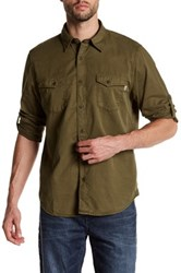 Timberland Regular Fit Twill Cargo Shirt Green