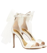 Alexandre Vauthier Bowdown 2 Satin Sandals White