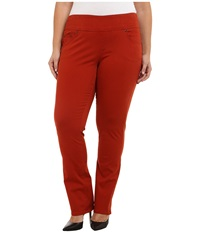 Jag Jeans Plus Size Peri Pull On Straight Jeans In Henna Henna Women's Jeans Brown