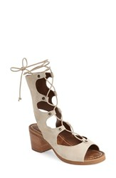Women's Matisse Lace Up Sandal Natural Suede