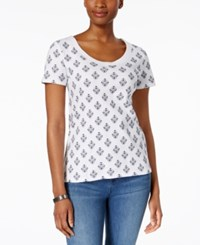 Charter Club Printed Cotton T Shirt Only At Macy's White