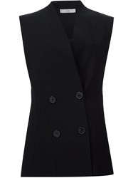 Tome Double Breasted Tailored Waistcoat Black