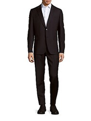 Valentino Virgin Wool Solid Suit