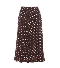 Veronica Beard Madison Printed Silk Skirt Black