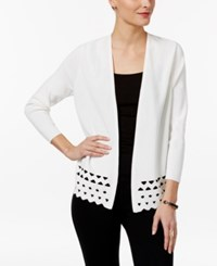 Alfani Prima Cutout Open Front Cardigan Only At Macy's Soft White
