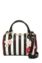 Betsey Johnson Heart Quilted Satchel White