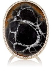 Monique Pean Women's White Diamond And Septarian Ring Colorless