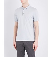 Michael Kors Short Sleeved Cotton Jersey Polo S Ice Grey