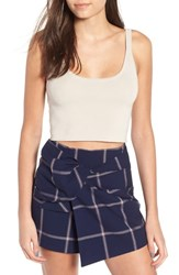 Leith Fitted Crop Top Grey Pebble