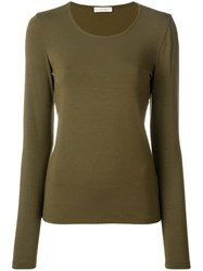 Le Tricot Perugia Long Sleeve T Shirt Elastodiene Viscose Xxxl Green
