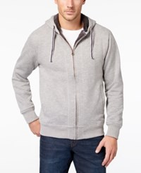 Weatherproof Vintage Men's Full Zip Fleece Hoodie Med Gray