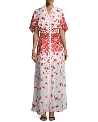 Alexis Jeannie Poppy Print Cape Maxi Dress Poppy Floral