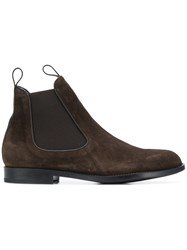 Z Zegna Almond Toe Chelsea Boots Brown