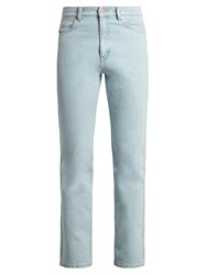 Martine Rose High Rise Slim Leg Jeans Light Blue