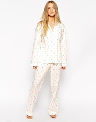 Cath Kidston Button Spot Long Pj Set Buttonspotpastel