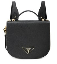 Prada Odette Saffiano Leather Backpack Black
