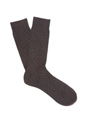 Pantherella Gadsbury Pin Dot Socks Grey
