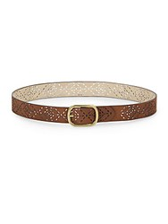 Steve Madden Lasercut Belt Brown