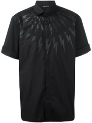 Neil Barrett Lightning Bolt Print Shirt Black