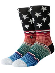 Stance Americana Glitch Socks Black