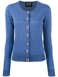 Markus Lupfer Jewel Button Cardigan Women Plastic Merino Xs Blue