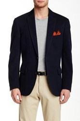 Flynt Spicoli Knit Two Button Notch Lapel Sport Coat Blue