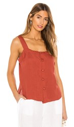 Seafolly Scarlet Top In Rust.