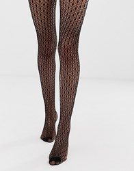 Jonathan Aston Geo Net Tights In Black