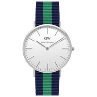 Daniel Wellington Men's Classic Stainless Steel Nato Fabric Strap Watch Navy Green