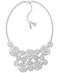 Lonna And Lilly Silver Tone Openwork Multi Disc Statement Necklace