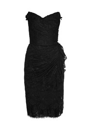 Dolce And Gabbana Strapless Lace Dress Black