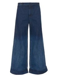 Yohji Yamamoto Regulation Mid Rise Wide Flared Denim Jeans