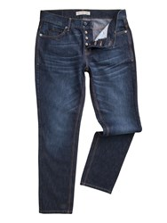 Racing Green Men's Dean Straight Fit Stone Wash Jeans Denim