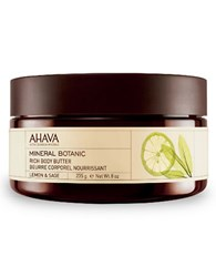 Ahava Mineral Botanic Rich Body Butter Lemon And Sage 8 Oz. No Color