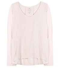 Velvet Chanel Cotton Top Pink