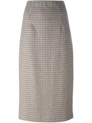 P.A.R.O.S.H. Pencil Mid Length Skirt Brown