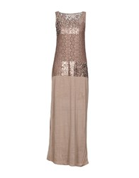 Just For You Long Dresses Light Brown