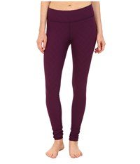 Beyond Yoga Quilted Essential Long Legging Imperial Violet Women's Workout Black