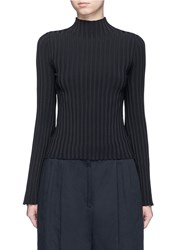 Elizabeth And James 'Lenny' Slim Turtleneck Rib Knit Sweater Black