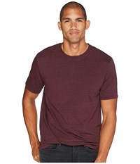 Threads For Thought 4 Baseline Tri Blend Crew Tee Maroon Rust T Shirt Burgundy