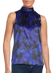 T Tahari Floral Print Sleeveless Top Radiance