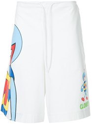 Walter Van Beirendonck Vintage Clone Cartoon Shorts White