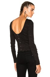 Rag And Bone Jean Tyler Long Sleeve Knit Top In Black