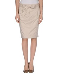 Caractere Knee Length Skirts Beige