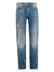 Aries Metallic Foil High Rise Boyfriend Jeans