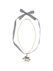 Miu Miu Necklace With Floral Pendant Gold