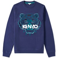 Kenzo Tiger Face Crew Sweat Blue
